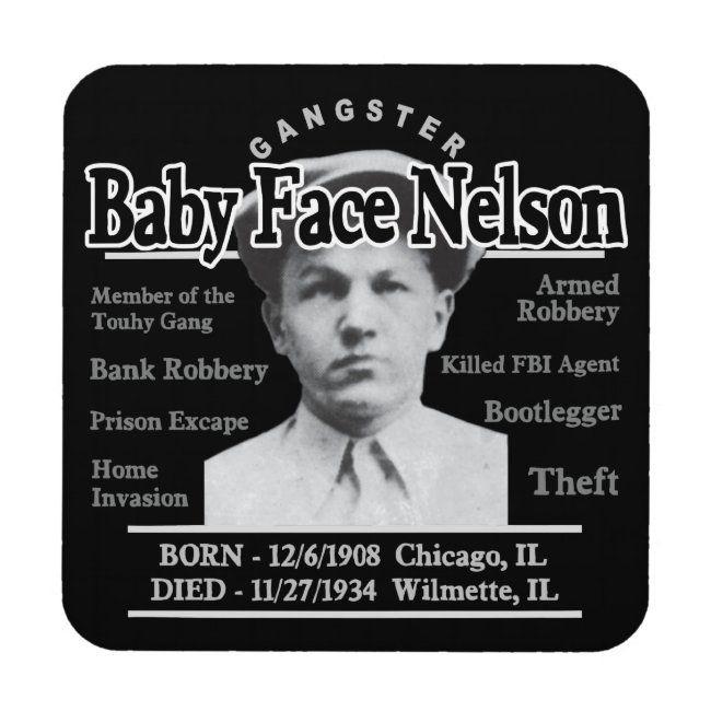 Chicago Escobar Halloween 2020 Gangster Baby Face Nelson Coaster | Zazzle.in 2020 | Baby face