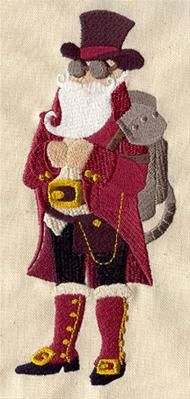 Steampunk Santa_image: Steampunk Santa, Diy Steampunk, Santa Design, Steampunk Embroidery, Cuffs Link, Urban Threads, Awesome Embroidery, Steampunk Christmas, Embroidery Designs