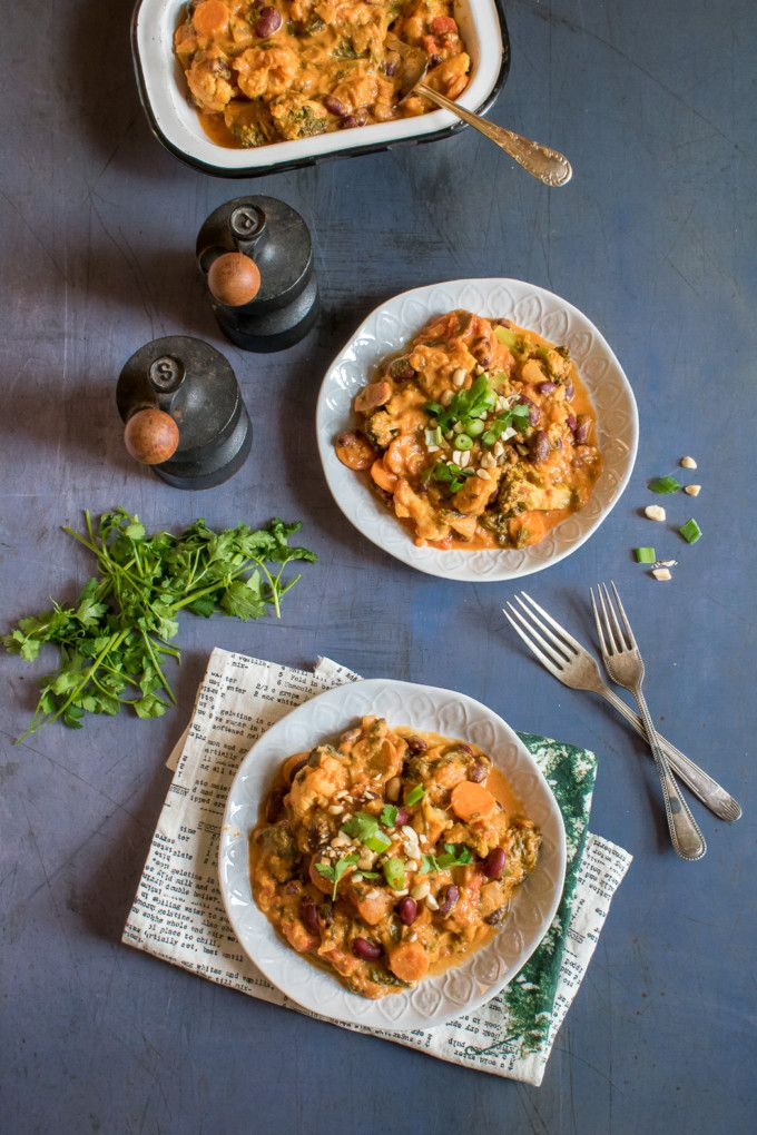 Ready in just 25 minutes, this tasty Vegan Peanut Stew is packed with vegetables, spices and flavour. The cumin, turmeric and chilli work well with the creamy peanut butter.
