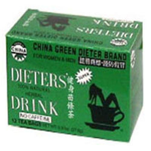 Dieters Tea China Green 12 Bags By Uncle Lees Teas