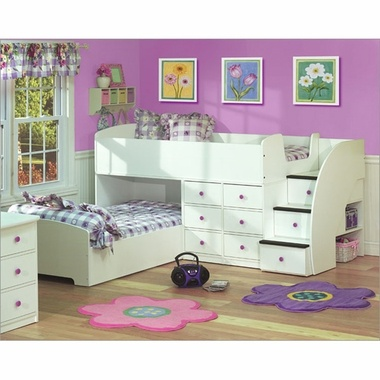 Bunk Beds for girl with storage!