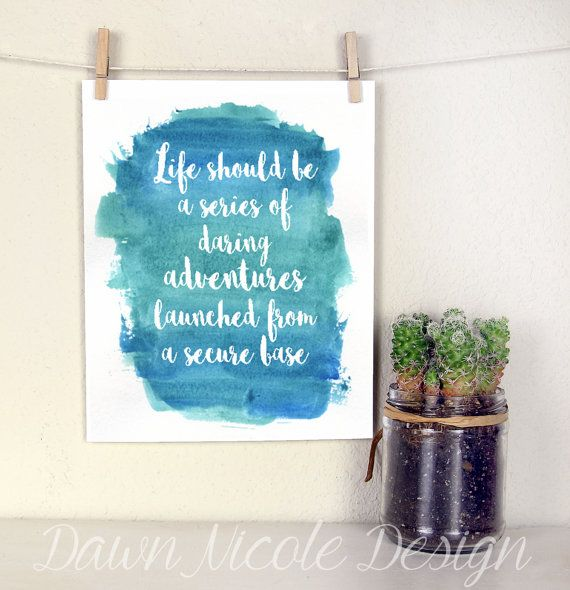 Modern calligraphy quote life should be a series of