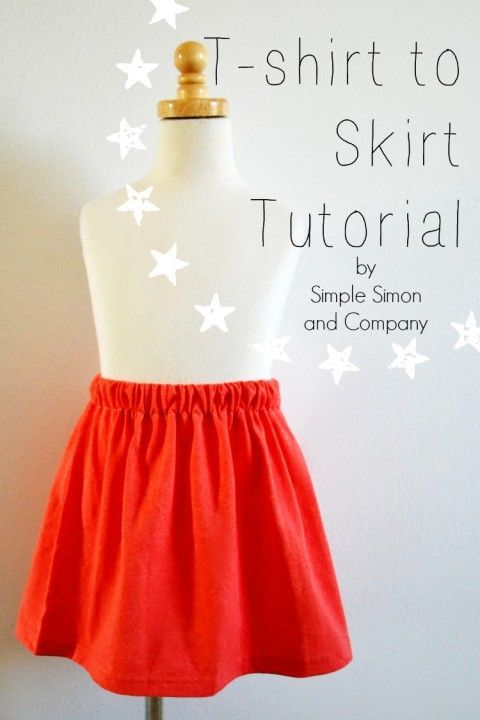 Don't throw that shirt away! Save it with this super easy DIY T-Shirt to Skirt tutorial with Simple Simon and Company.