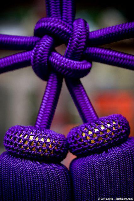 Purple knot at Fushimi Inari Shrine, Kyoto, Japan