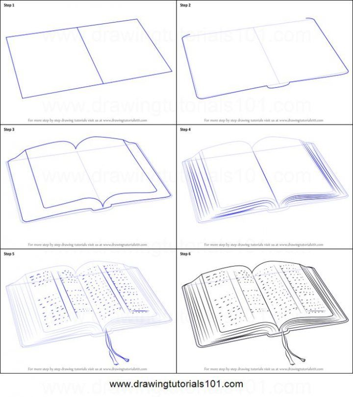How To Draw An Open Book Printable Step By Step Drawing Sheet Drawing Sheet Drawing Tutorial Step By Step Drawing