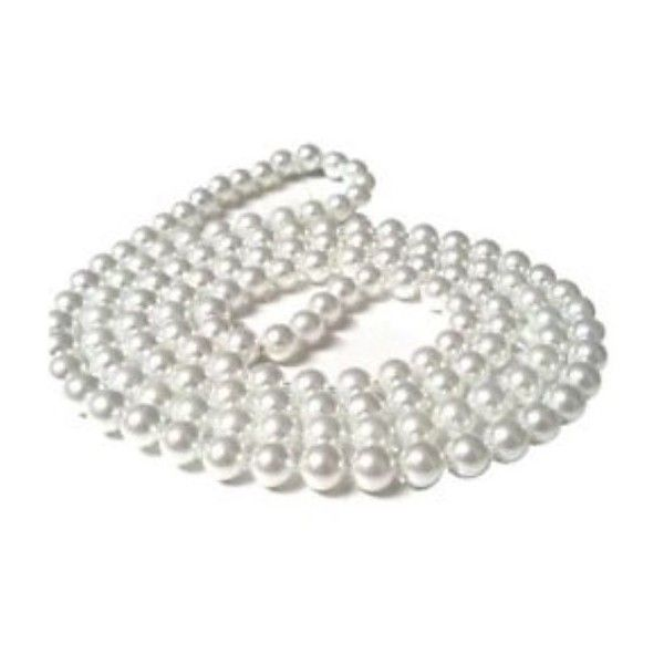 1920'S PEARL BEADS FOR FLAPPER GREAT GATSBY FANCY DRESS ($3.91) ❤ liked on Polyvore featuring dresses, roaring twenties flapper dresses, roaring 20s dress, 1920s dress, gatsby dress and white flapper dress