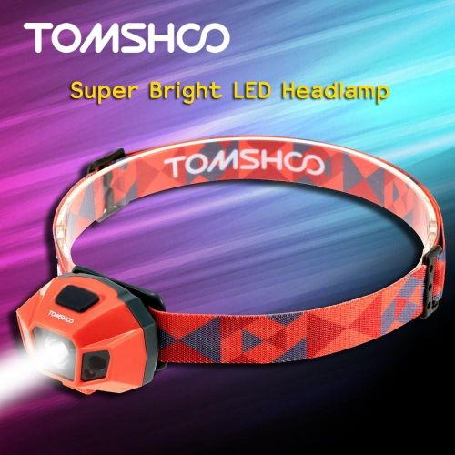TOMSHOO Super Bright LED Headlamp High Power Flashlight Water Resistance USB Cable Rechargeable Headlight Lamp for Biking Camping Climbing Other Outdoor Activities