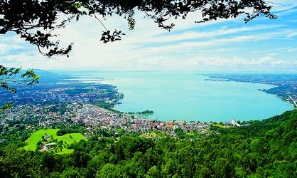 Bregenz, Osterreich- Gorgeous town on Lake Constance and surrounded by the Alps.