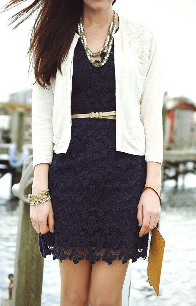 cute: Sarah Vickers, Outfits, Navy Lace Dresses, Butterflies, Blue Lace, Blazers, Black Lace Dresses, The Dresses, Belts
