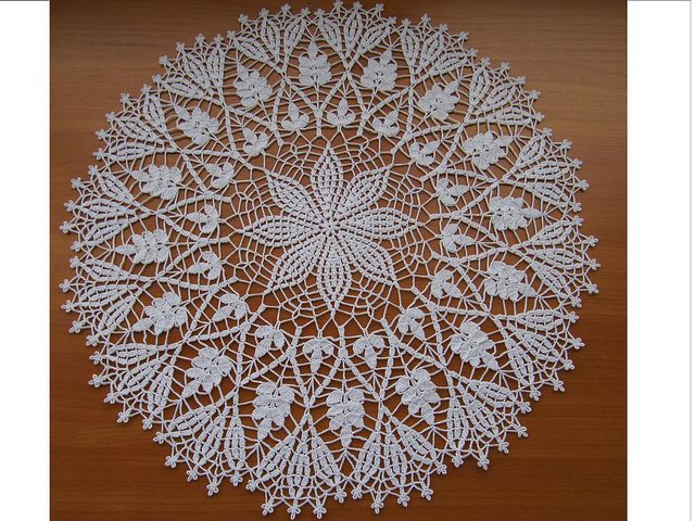 Crocheted mat - Cluster Stitch Doily