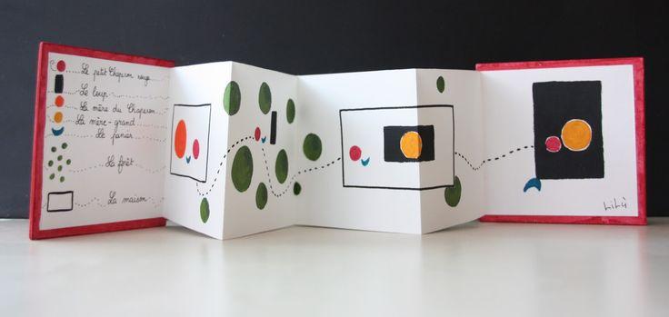Après de multiples lectures et travaux sur les contes, j'ai propsé à mes élèves de réaliser de petits livres accordéon à la manière de Warja...
