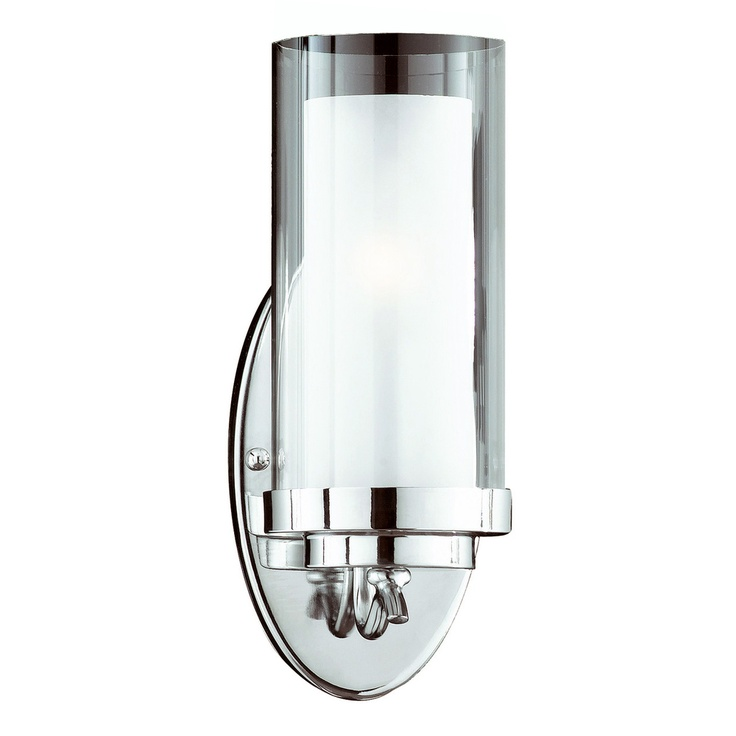 Cylindique 1 Light Chrome Wall Sconce | Overstock.com | $65
