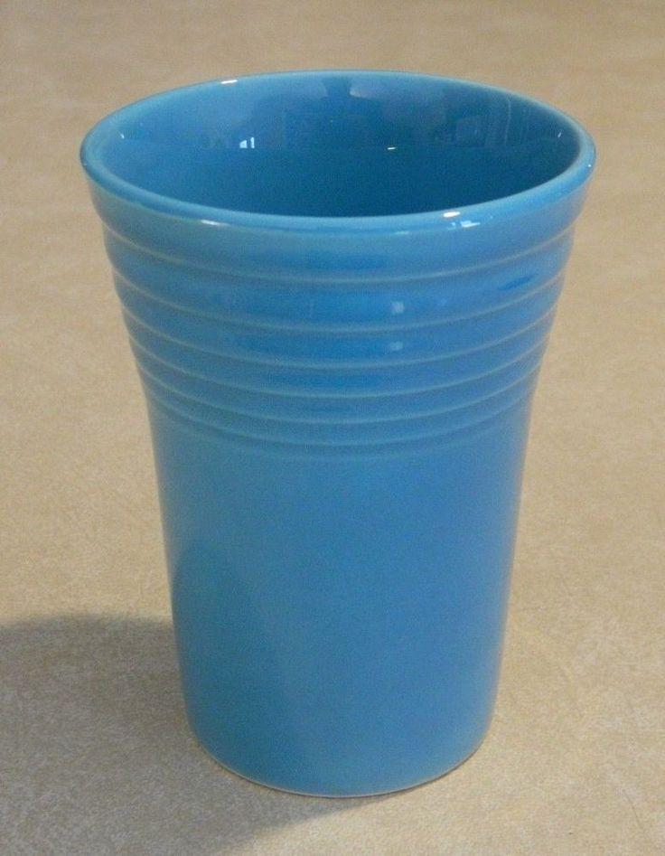 Original Vintage Fiesta Ware Art Deco Turquoise Water Tumbler - DEEP Color!! #FiestaWare