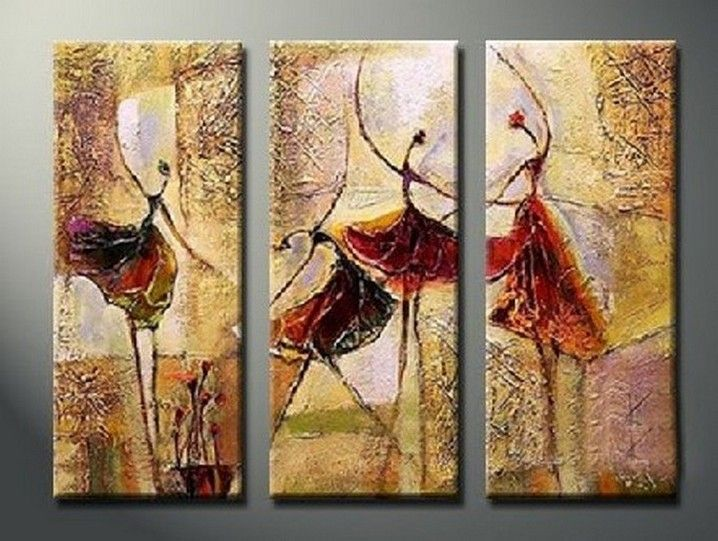 bedroom wall art canvas painting ballet dancer painting abtract figure art abstract