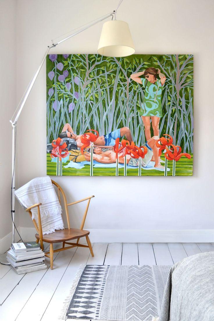 Rise Art - ELLEDecor.com #painting by #stellakapezanou