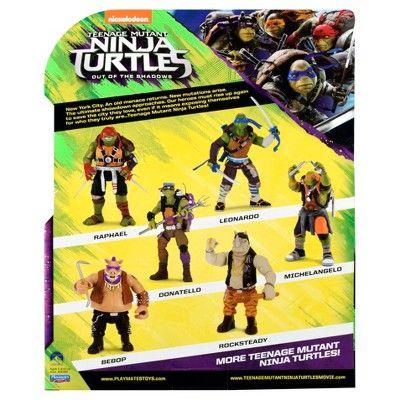 Teenage Mutant Ninja Turtles Movie 2 Rocksteady Action Figure 11, Green