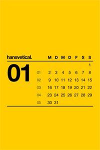 Great minimalistic Helvetica calendar from Hanskfroschauer.