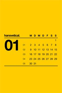 Great minimalistic Helvetica calendar from Hanskfroschauer.