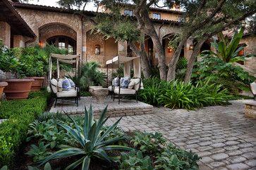 Courtyard Hacienda - mediterranean - landscape - austin - chas architects