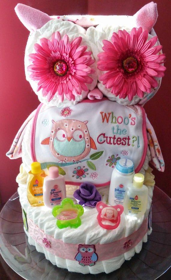 Owl Diaper Cake Baby Diaper Cake Owl Diaper Cakes Diaper Cakes Girl