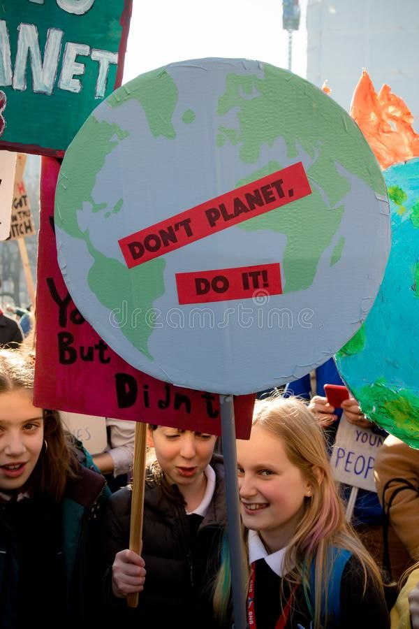 School Strike For Climate Change Stock Photography Sponsored Climate Strike School Photograph Climate Change Vintage Typography Design School Strike