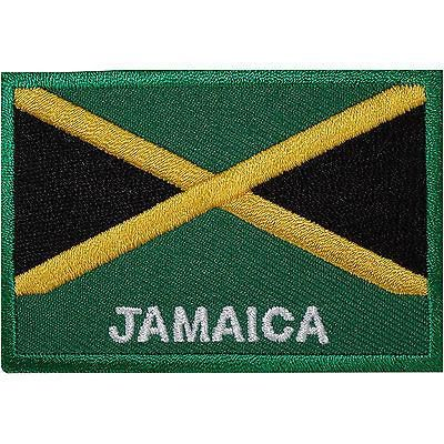 Jamaica Flag Embroidered Iron / Sew On Patch Jamaican Rasta Shirt Hat Bag Badge Size 7.1 cm Width and 5 cm Height. How to Iron on a Patch Lay your cloth on a fl