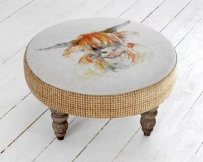 Voyage Highland Cow Footstool