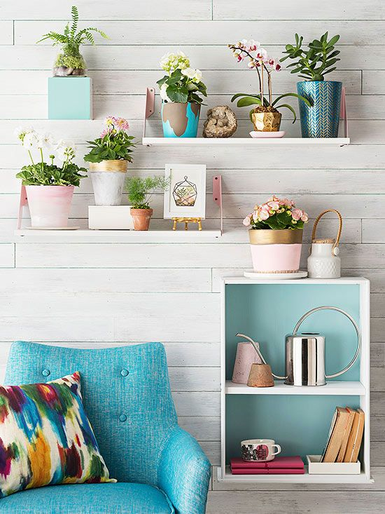 For an easy home decor project, turn an old drawer into a box shelf.