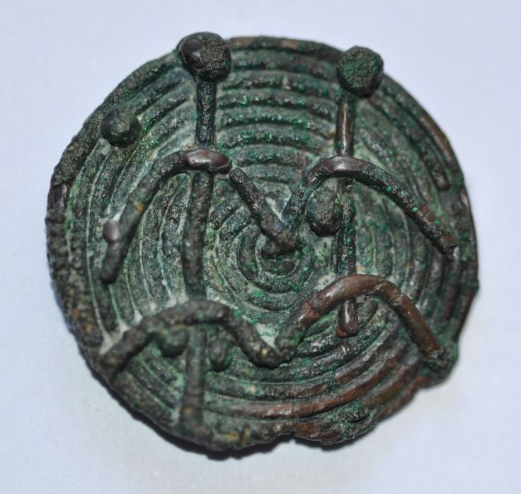 Amlash bronze ring with figurines 4, 1st millenium B.C. Private collection