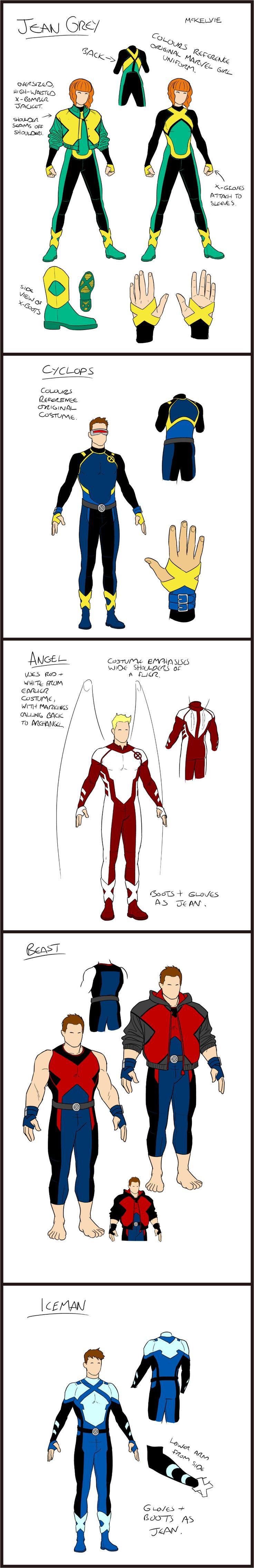 Jamie McKelvie -- Redesigned X-Men Blue costumes!