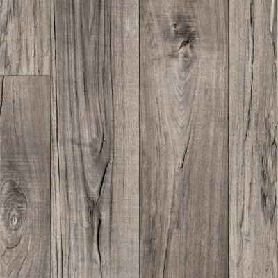 TrafficMASTER Grey Weathered Oak Plank 13.2 ft. Vinyl Sheet-C6400.309K899P158 at The Home Depot