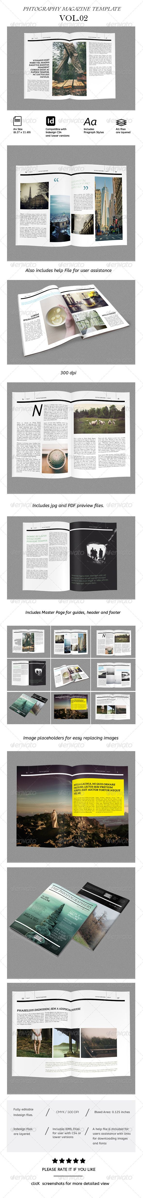 Magazine Indesign Template/ Portfolio/Catalog. Easy to edit, print ready. For $16.
