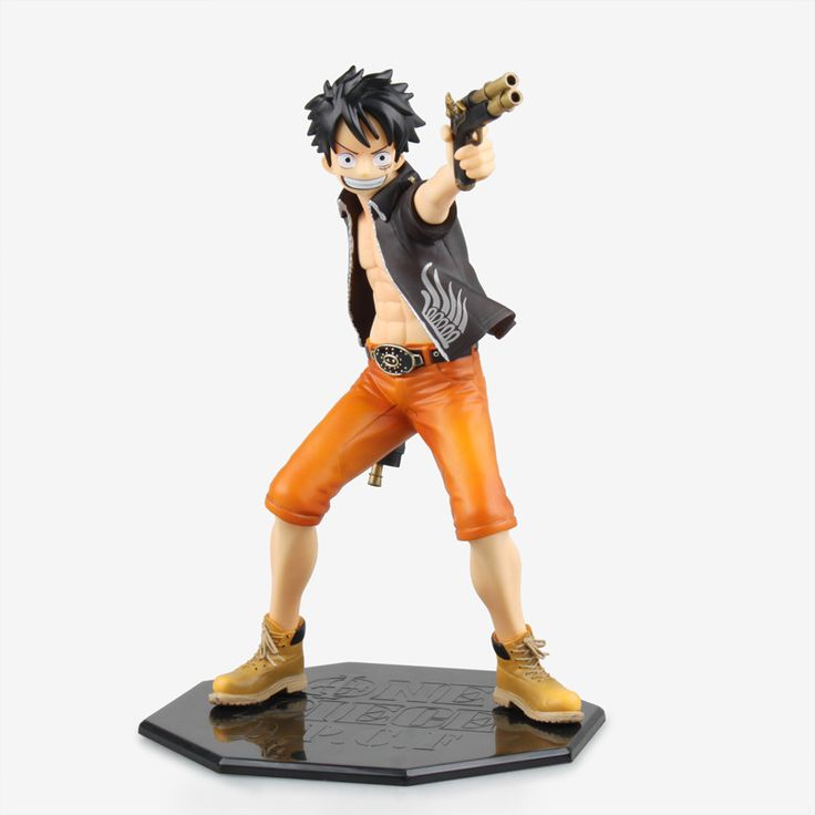""">> Click to Buy << Free Shipping 9"""" One Piece Anime D.P.C.F Monkey D Luffy with 2 Gun Boxed 22cm PVC Action Figure Collection Model Doll Toy Gift #Affiliate"""