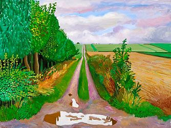 DAVID HOCKNEY Puddle Near Kilham : ANNELY JUDA FINE ART