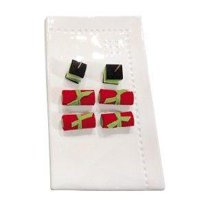BEL HERITAGE rectangle serving platter. Designed by Julie Gaillard. Available on www.darwinshome.com