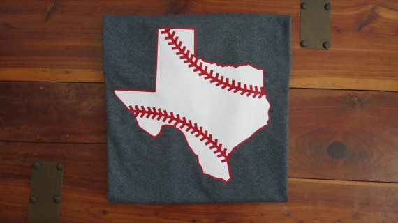 Glitter Texas Baseball Shirt Texas Ranger by MamaMadeByPatience