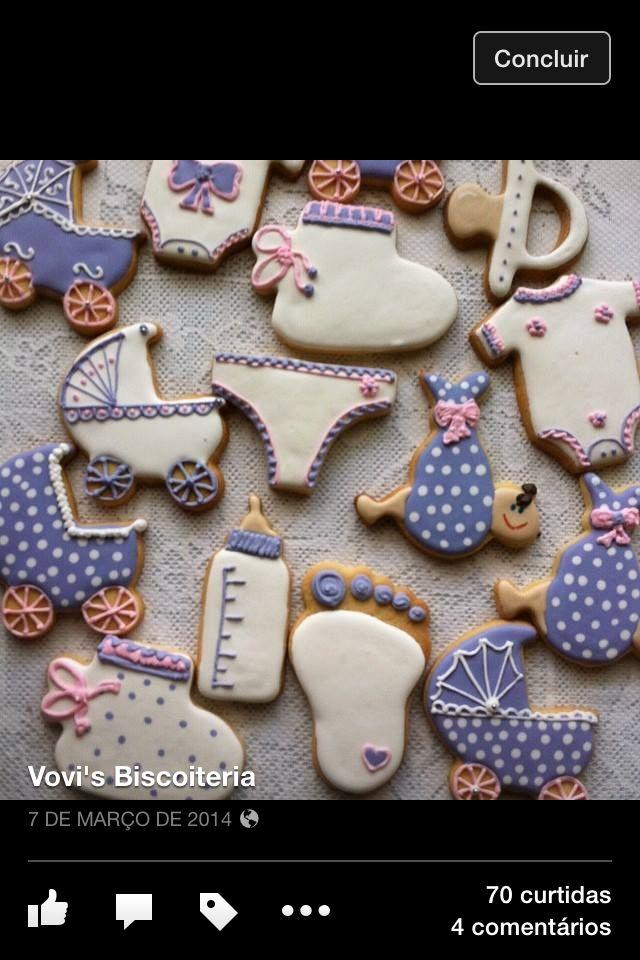 Biscoitos bebê biscoitos decorados by Vovi's Biscoiteria 51 35882457 www.facebook.com.br/vovisbiscoiteria