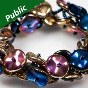 INFINITE BRACELET Using Czech Glass Ripple Beads
