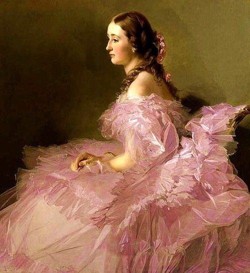Retrato de Eugenia, Emperatriz de los Franceses, circa 1850 - 1860.