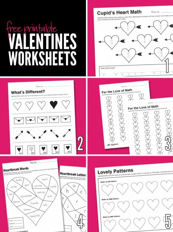 free printable worksheets for valentine 39 s day via pagingsupermom best of pinterest. Black Bedroom Furniture Sets. Home Design Ideas