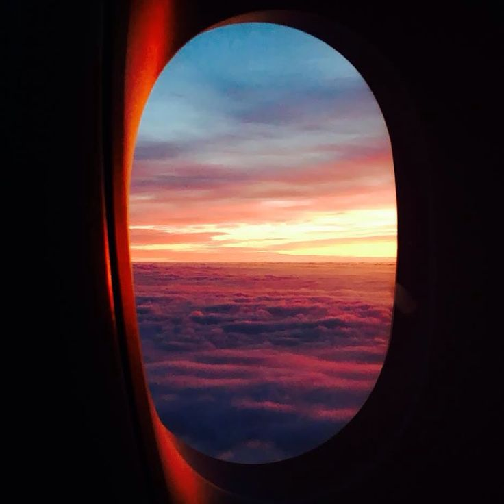 Sunset from the plane window.