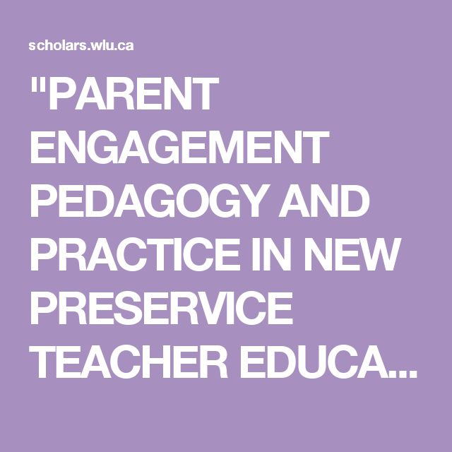 """""""PARENT ENGAGEMENT PEDAGOGY AND PRACTICE IN NEW PRESERVICE TEACHER EDUCATION PROGRAMS IN ONTARIO"""" by Tracy E. Bachellier"""