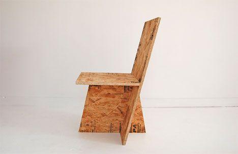 OSB DOSKA = Oriented strand board ---  Rolu OSB chair