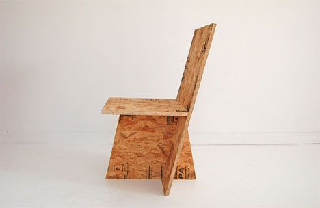OSB DOSKA = Oriented strand board ---  Rolu OSB chair