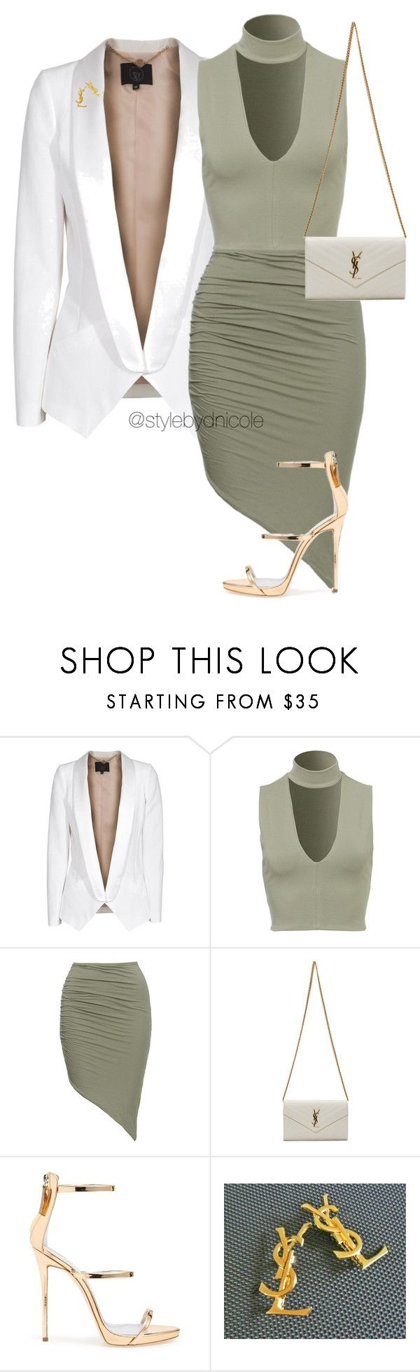 """""""Untitled #3256"""" by stylebydnicole ❤ liked on Polyvore featuring SLY 010, Yves Saint Laurent and Giuseppe Zanotti"""