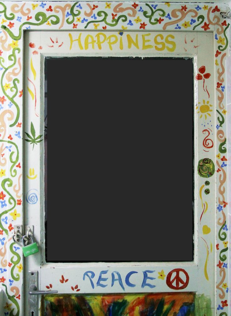 Door painting Hippie painting #hippie #happiness #peace #painting