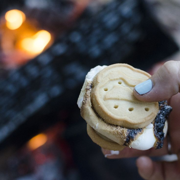 How #smores should always be made - with #GirlScoutCookies