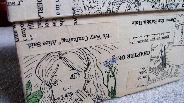 Up-Cycle Shoe Boxes With Book Pages