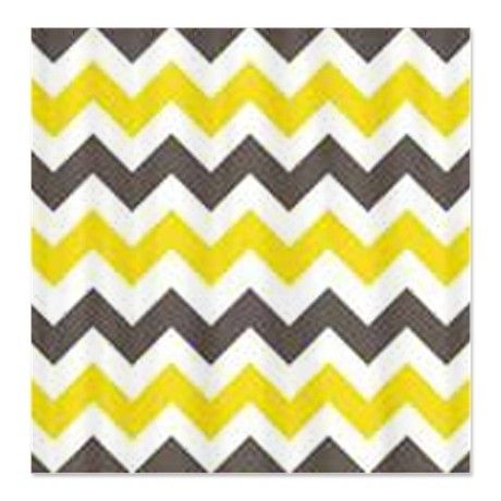 Yellow Stripe Shower Curtain - Foter