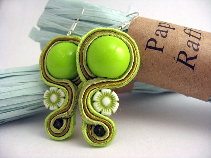 Handmade Embroidered Soutache Earrings